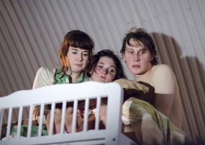 Georgia Clarke-Day, Ruby Bentall and George Mackay